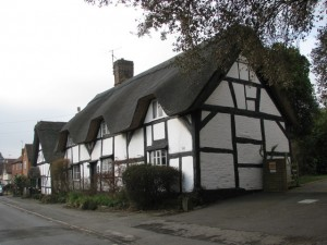 black and white cottages